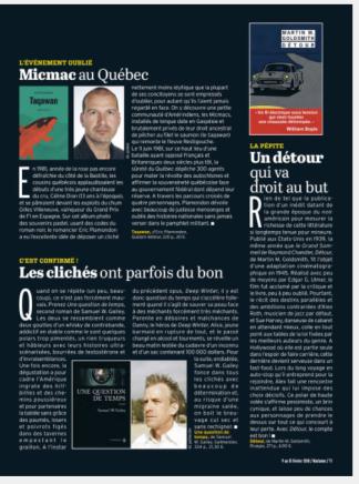 Micmac au Québec page